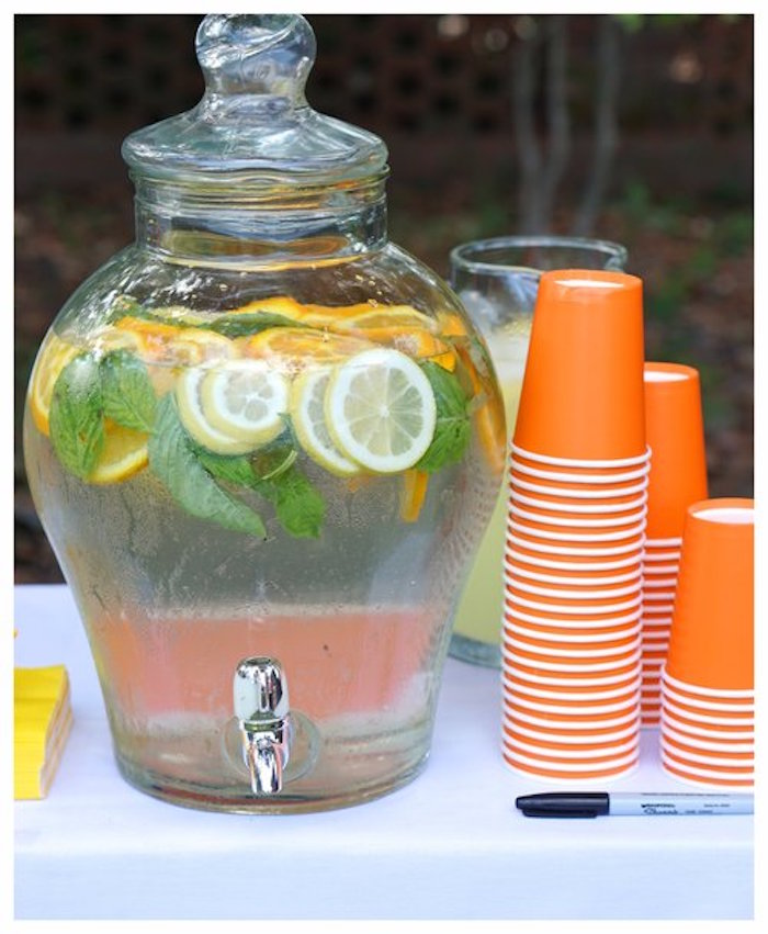 Beverage Dispenser from an Under Construction Birthday Party on Kara's Party Ideas | KarasPartyIdeas.com (20)