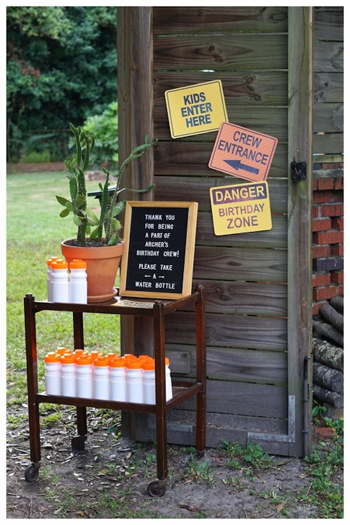 Construction Signage + Decor from an Under Construction Birthday Party on Kara's Party Ideas | KarasPartyIdeas.com (17)
