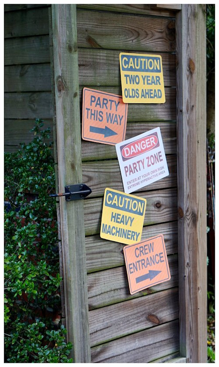 Construction Signage from an Under Construction Birthday Party on Kara's Party Ideas | KarasPartyIdeas.com (16)