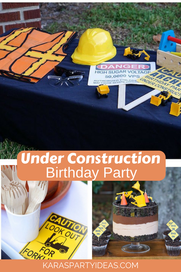 Under Construction Birthday Party via KarasPartyIdeas - KarasPartyIdeas.com