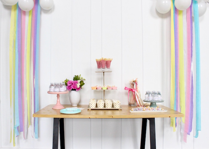 Unicorn Party Table from a Unicorn Birthday Party on Kara's Party Ideas | KarasPartyIdeas.com (16)
