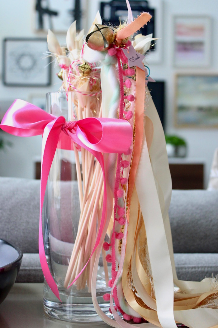 Tassel Wands from a Unicorn Birthday Party on Kara's Party Ideas | KarasPartyIdeas.com (7)
