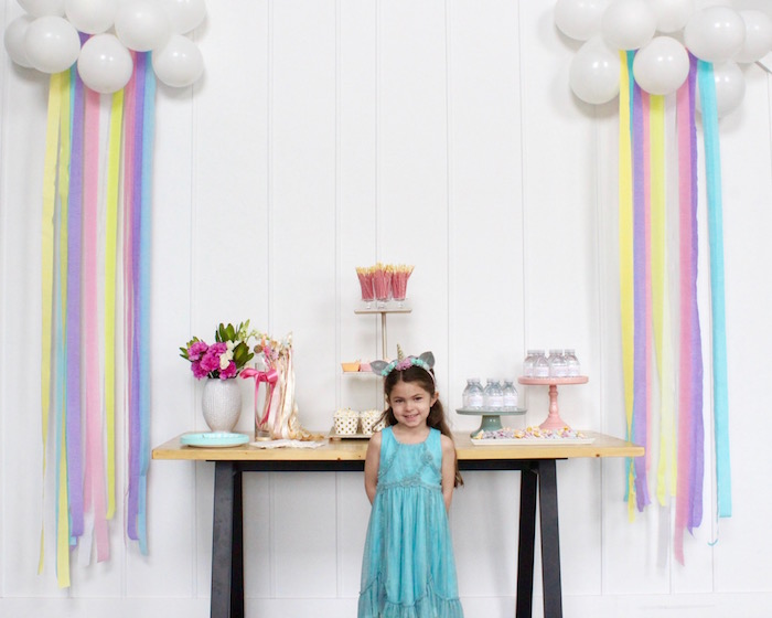 Unicorn Party Table from a Unicorn Birthday Party on Kara's Party Ideas | KarasPartyIdeas.com (25)