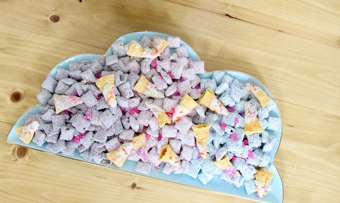 Unicorn Muddy Buddies from a Unicorn Birthday Party on Kara's Party Ideas | KarasPartyIdeas.com (24)