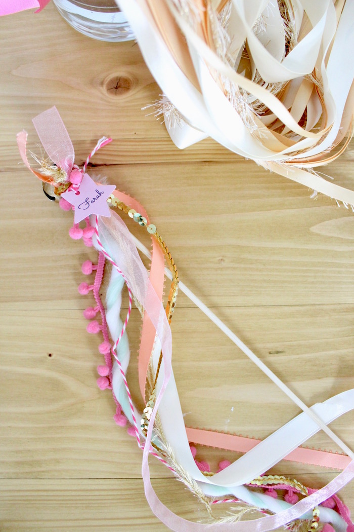 Ribbon Tassel Wand from a Unicorn Birthday Party on Kara's Party Ideas | KarasPartyIdeas.com (22)