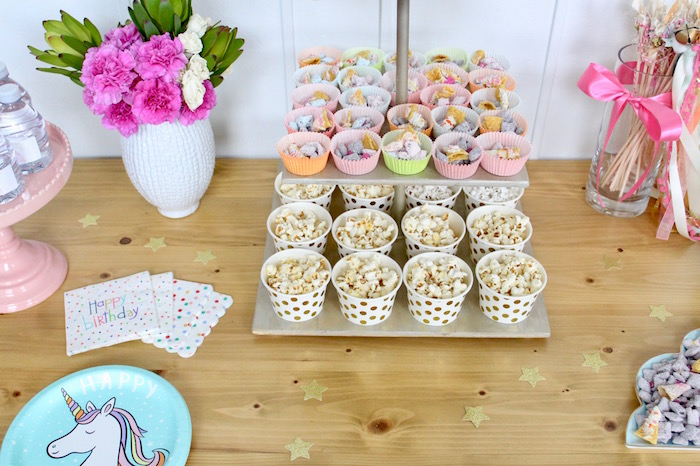 Snack Cups from a Unicorn Birthday Party on Kara's Party Ideas | KarasPartyIdeas.com (21)