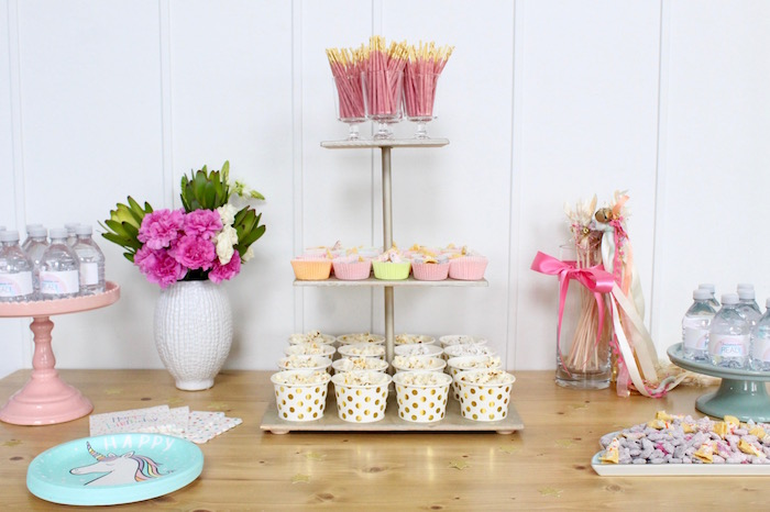 Party Table from a Unicorn Birthday Party on Kara's Party Ideas | KarasPartyIdeas.com (20)
