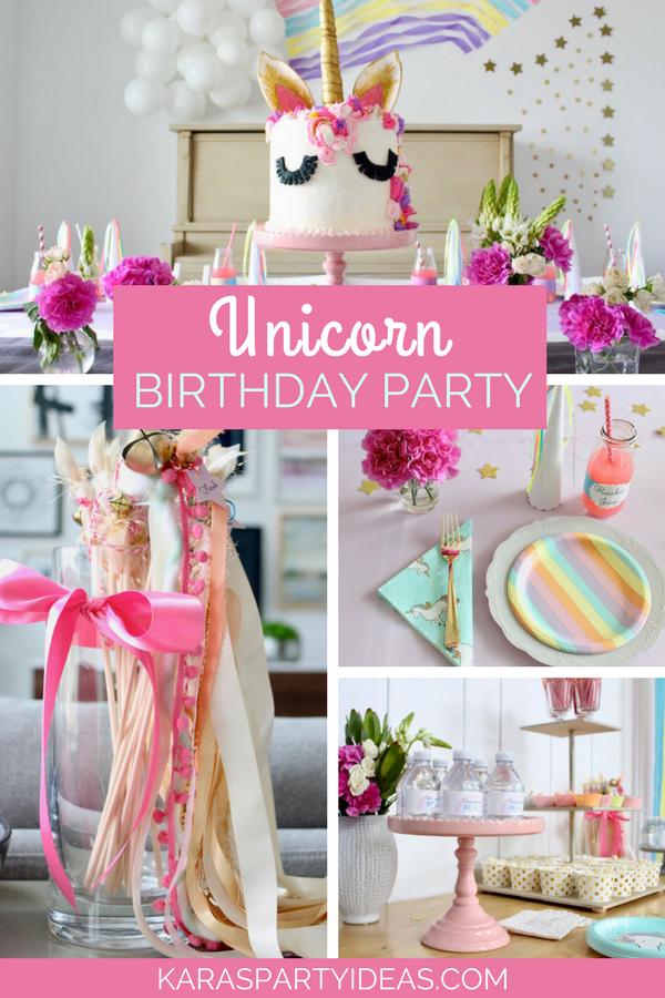 Unicorn Birthday Party via KarasPartyIdeas - KarasPartyIdeas.com