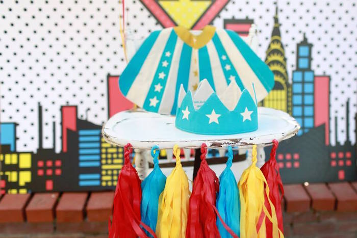 High Chair from a Vintage Comic Book Superhero Party on Kara's Party Ideas | KarasPartyIdeas.com (8)