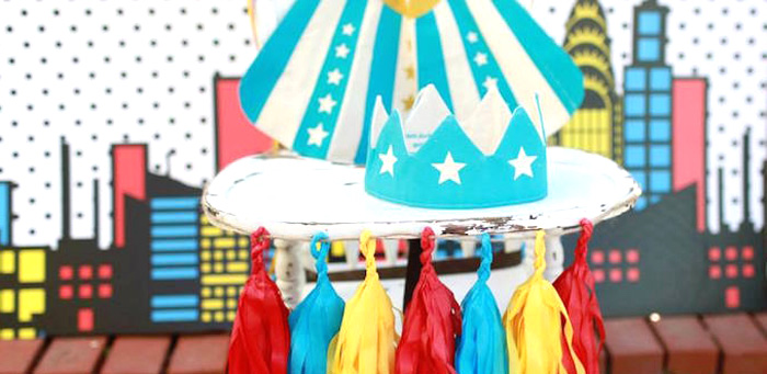 Vintage Comic Book Superhero Party on Kara's Party Ideas | KarasPartyIdeas.com (2)