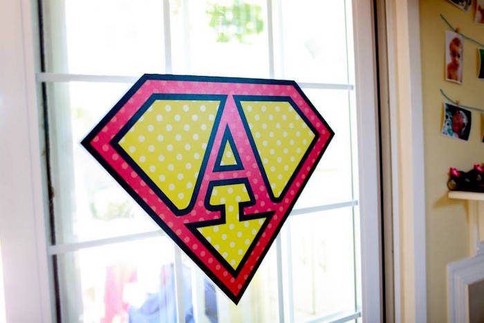 Superman Party Signage from a Vintage Comic Book Superhero Party on Kara's Party Ideas | KarasPartyIdeas.com (29)