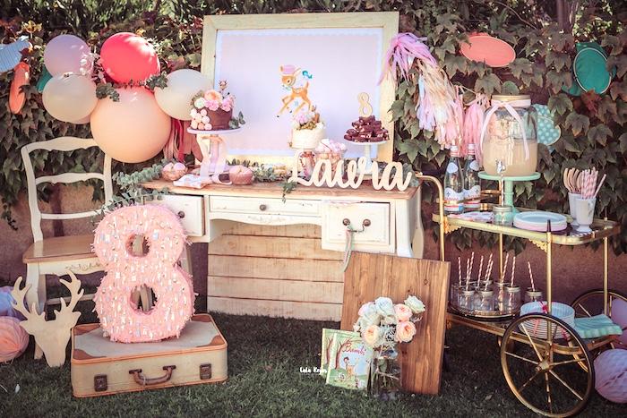 Vintage Shabby Deer Birthday Party on Kara's Party Ideas   KarasPartyIdeas.com (14)