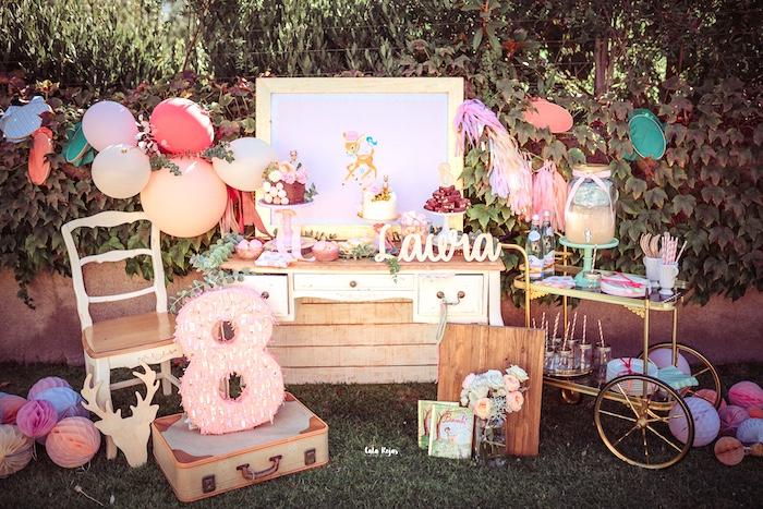 Vintage Shabby Deer Birthday Party on Kara's Party Ideas   KarasPartyIdeas.com (11)