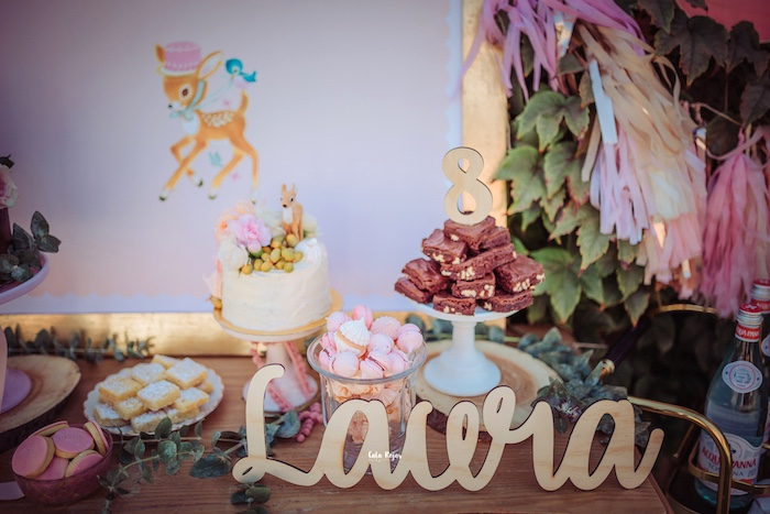 Cake Table from a Vintage Shabby Deer Birthday Party on Kara's Party Ideas   KarasPartyIdeas.com (20)