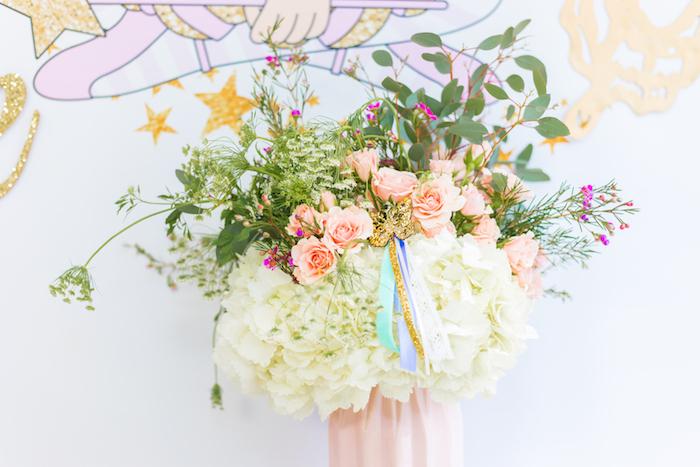 Fairy Floral Arrangement from a Whimsical Fairy Birthday Party on Kara's Party Ideas | KarasPartyIdeas.com (27)