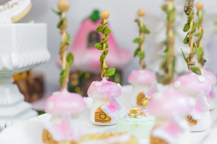 Toadstool Fairy House Cake Pops from a Whimsical Fairy Birthday Party on Kara's Party Ideas | KarasPartyIdeas.com (25)