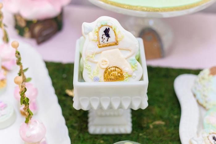 Fairy House Cookie from a Whimsical Fairy Birthday Party on Kara's Party Ideas | KarasPartyIdeas.com (24)