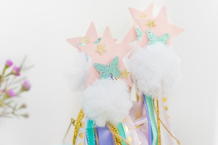 Fairy Tassel Wands from a Whimsical Fairy Birthday Party on Kara's Party Ideas | KarasPartyIdeas.com (23)