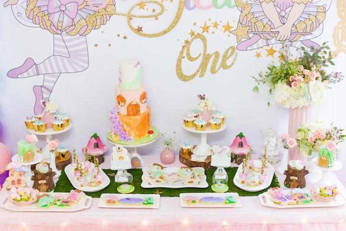 Dessert Table from a Whimsical Fairy Birthday Party on Kara's Party Ideas | KarasPartyIdeas.com (21)