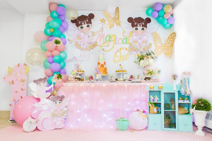 Dessert Table from a Whimsical Fairy Birthday Party on Kara's Party Ideas | KarasPartyIdeas.com (20)