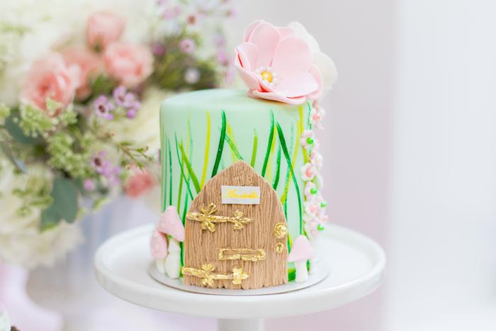 Fairy Cake from a Whimsical Fairy Birthday Party on Kara's Party Ideas | KarasPartyIdeas.com (36)