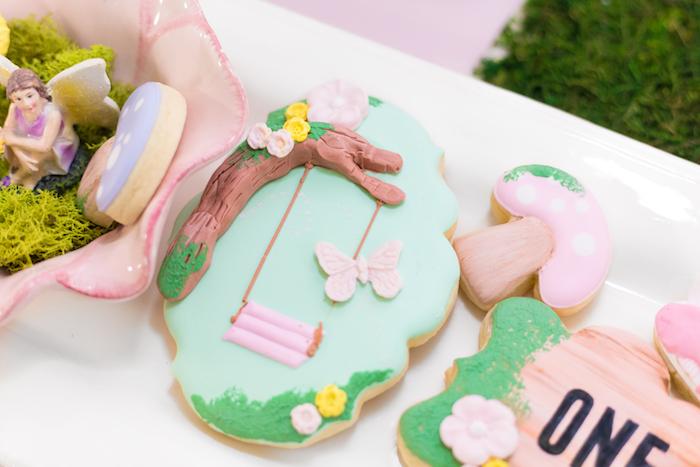 Garden Cookie from a Whimsical Fairy Birthday Party on Kara's Party Ideas | KarasPartyIdeas.com (17)
