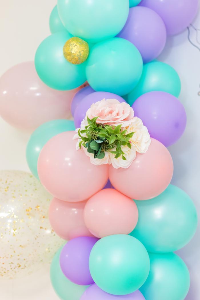 Balloon Arch from a Whimsical Fairy Birthday Party on Kara's Party Ideas | KarasPartyIdeas.com (15)