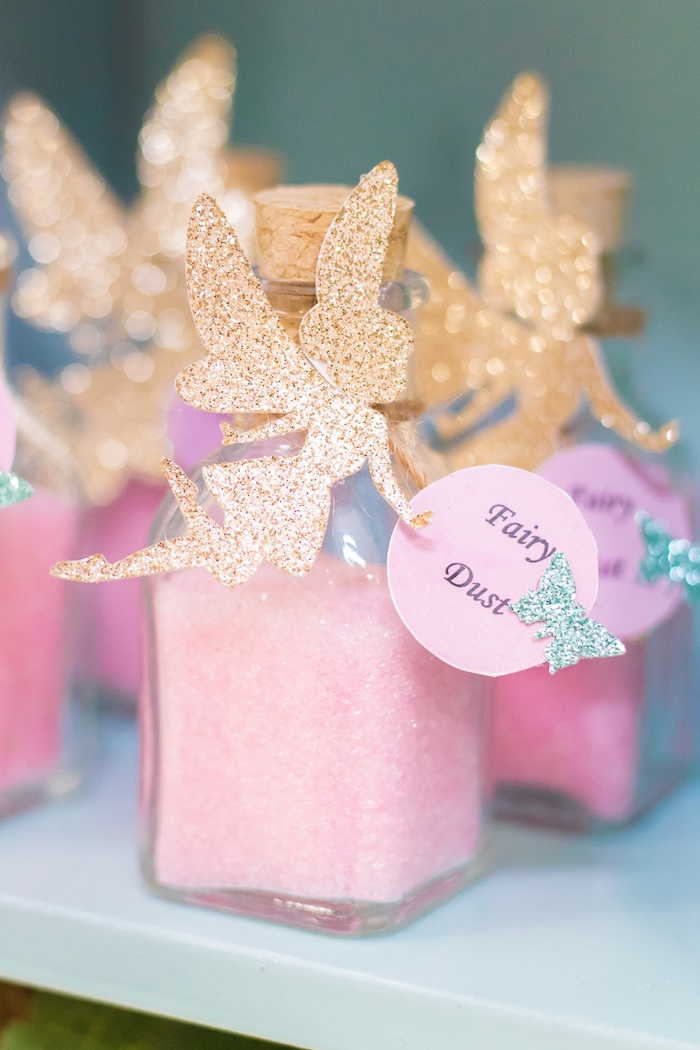 Fairy Dust Favor Jar from a Whimsical Fairy Birthday Party on Kara's Party Ideas | KarasPartyIdeas.com (14)
