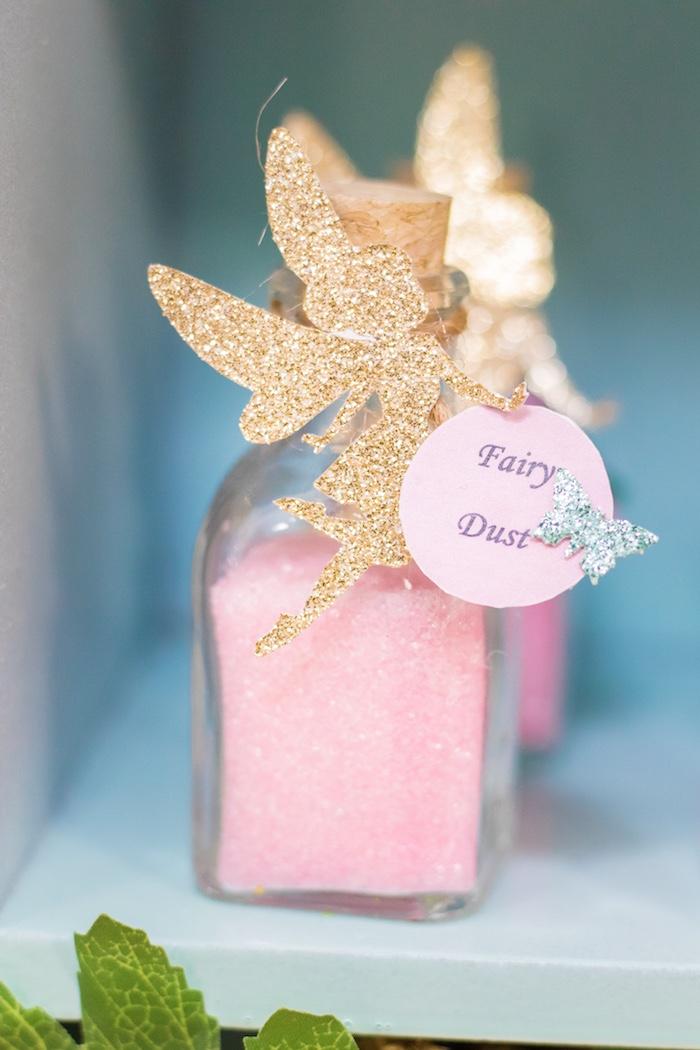 Fairy Dust Favor Jar from a Whimsical Fairy Birthday Party on Kara's Party Ideas | KarasPartyIdeas.com (13)