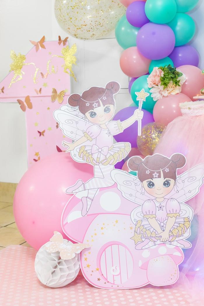 Fairy Standees from a Whimsical Fairy Birthday Party on Kara's Party Ideas | KarasPartyIdeas.com (10)