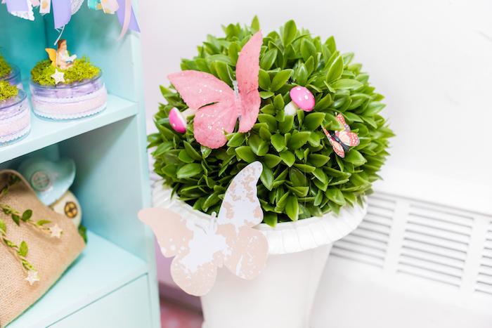 Butterfly Plant from a Whimsical Fairy Birthday Party on Kara's Party Ideas | KarasPartyIdeas.com (8)