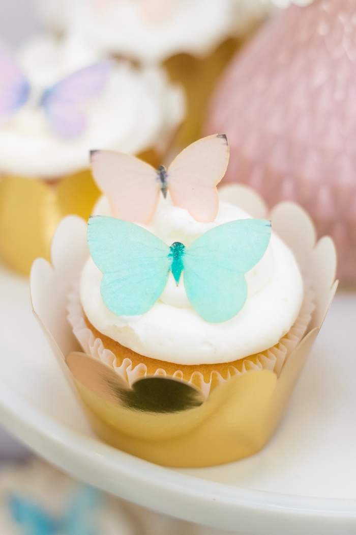 Butterfly Cupcakes from a Whimsical Fairy Birthday Party on Kara's Party Ideas | KarasPartyIdeas.com (35)