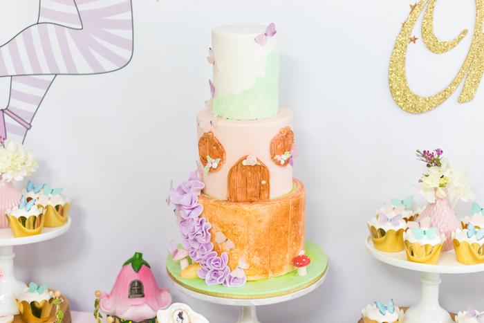 Fairy Cake from a Whimsical Fairy Birthday Party on Kara's Party Ideas | KarasPartyIdeas.com (32)