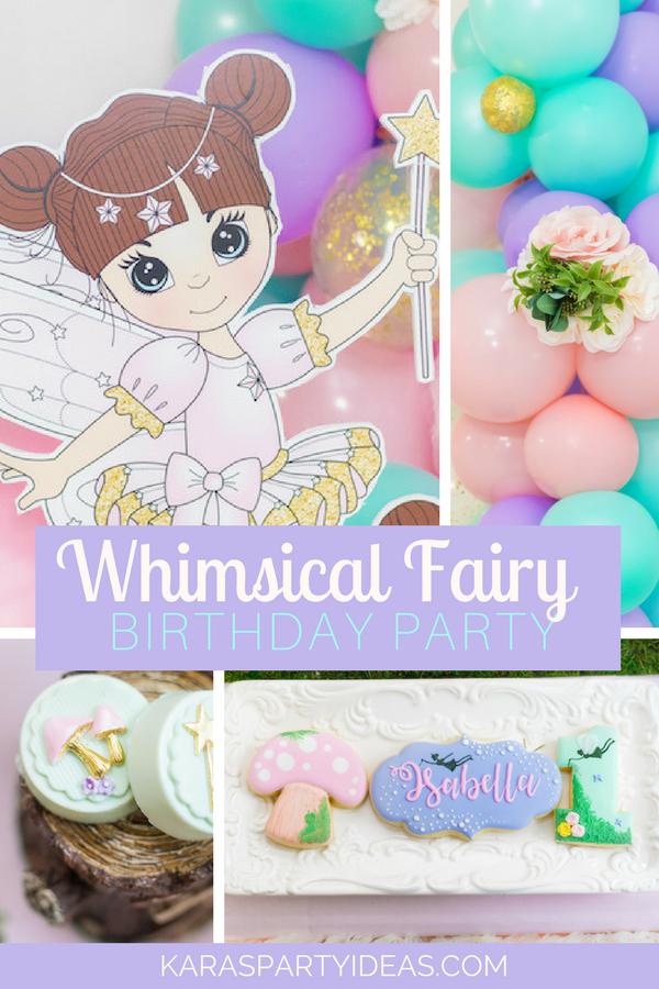 Whimsical Fairy Birthday Party via KarasPartyIdeas - KarasPartyIdeas.com