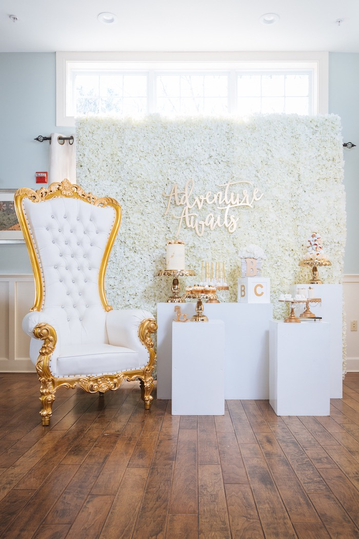 White and Gold Baby Shower on Kara's Party Ideas | KarasPartyIdeas.com (3)