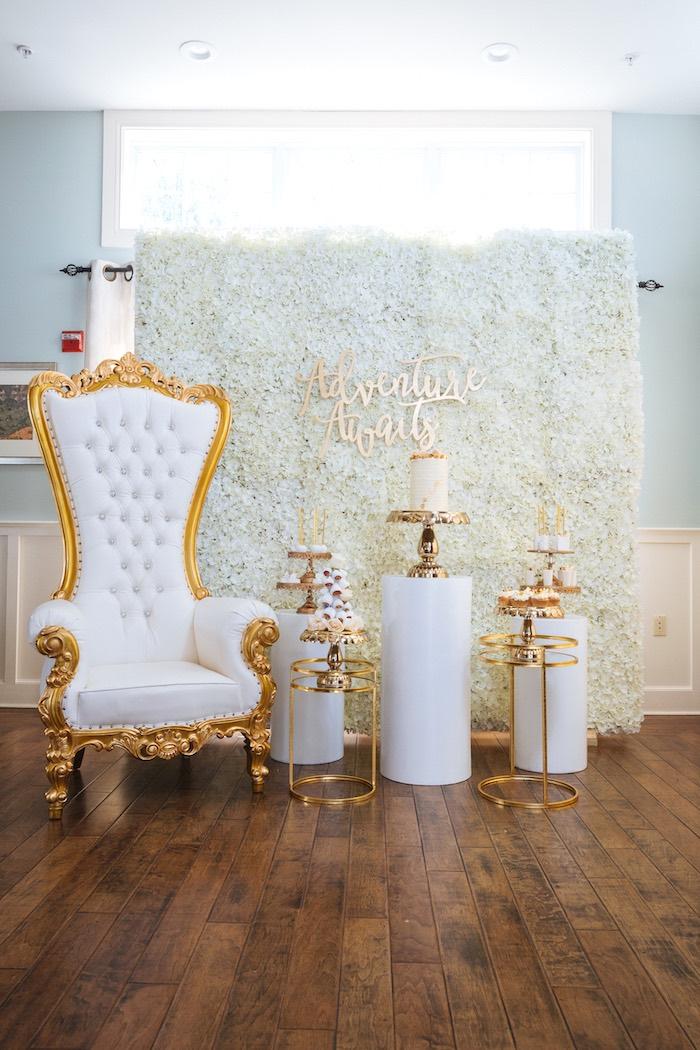 Kara S Party Ideas White And Gold Baby Shower Kara S