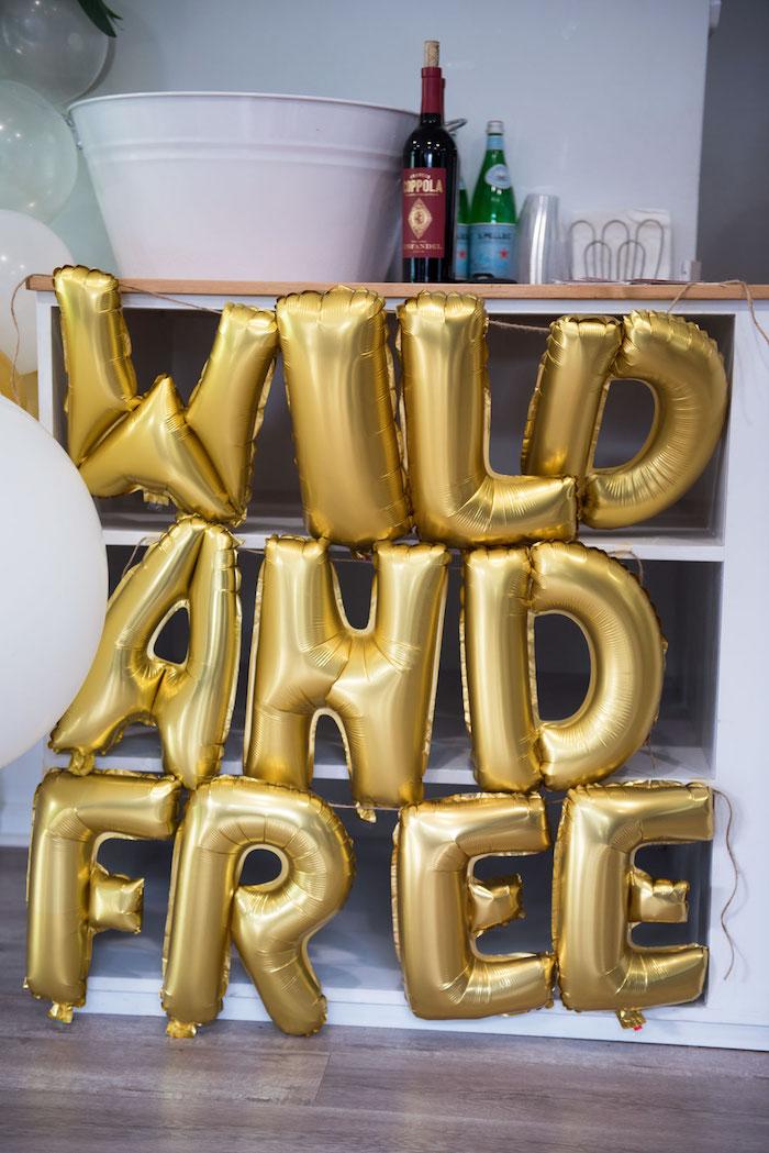 Wild & Free Balloon Banner from a Wild & Free Jungle Birthday Party on Kara's Party Ideas | KarasPartyIdeas.com (15)