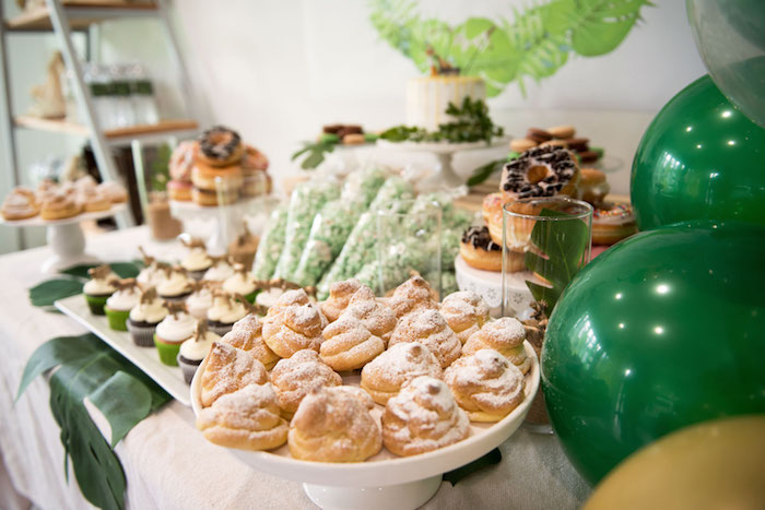 Sweet Table from a Wild & Free Jungle Birthday Party on Kara's Party Ideas | KarasPartyIdeas.com (11)