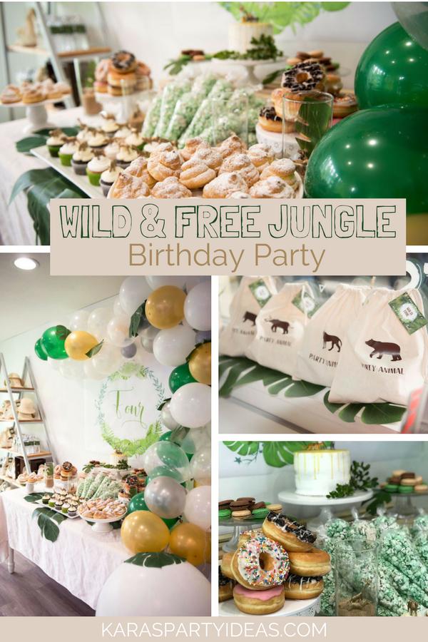 Wild _ Free Jungle Birthday Party via KarasPartyIdeas - KarasPartyIdeas.com