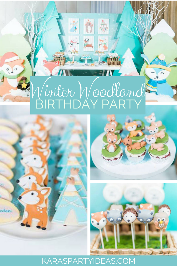 Winter Woodland Birthday Party via KarasPartyIdeas - KarasPartyIdeas.com