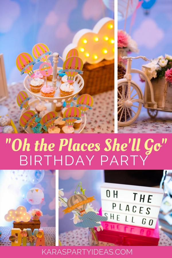 """""""Oh the Places She'll Go"""" Birthday Party via KarasPartyIdeas - KarasPartyIdeas.com"""