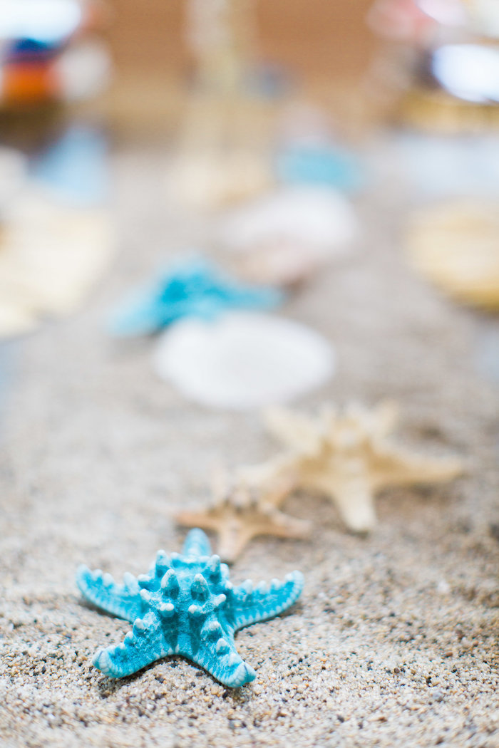 Starfish and Sand from a 1960's Surf Shack Birthday Party on Kara's Party Ideas | KarasPartyIdeas.com (18)