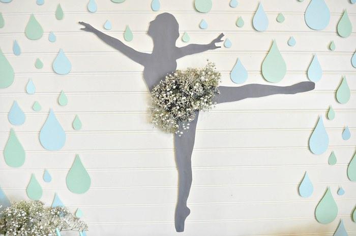 "Ballerina Bloom Silhouette from a ""Dancing in the Rain"" Ballerina Party on Kara's Party Ideas | KarasPartyIdeas.com (5)"