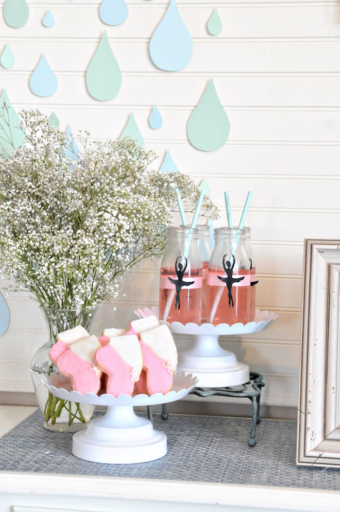 """Ballet Party Details from a """"Dancing in the Rain"""" Ballerina Party on Kara's Party Ideas 