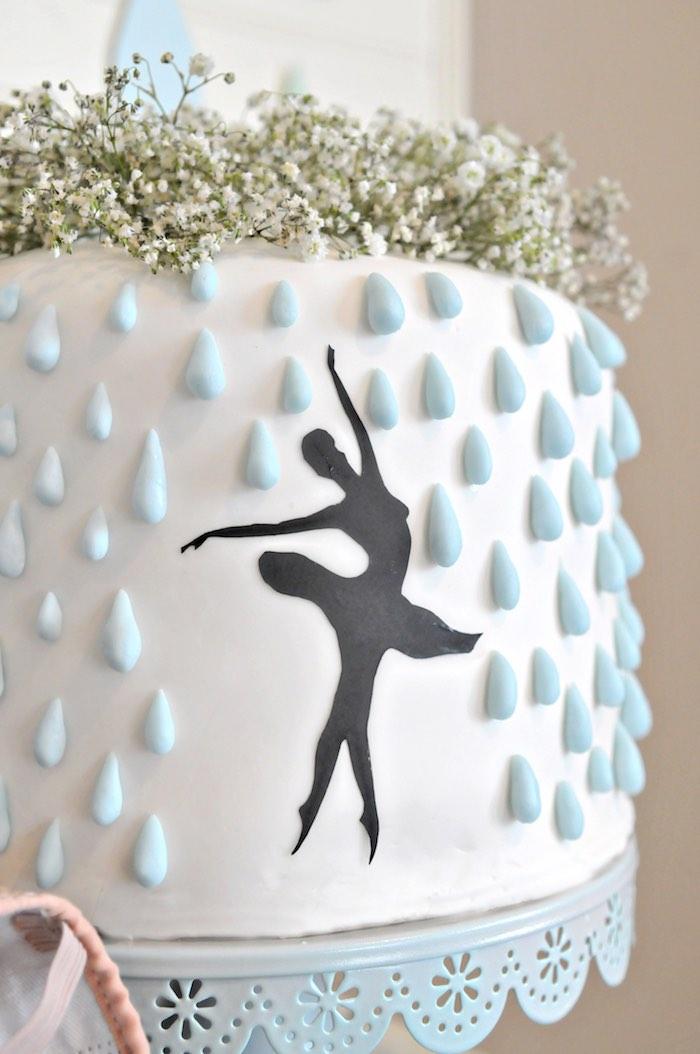 "Rain Cake from a ""Dancing in the Rain"" Ballerina Party on Kara's Party Ideas | KarasPartyIdeas.com (9)"