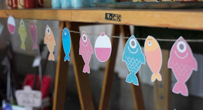 """O-Fish-ally One"" Fishing Birthday Party on Kara's Party Ideas | KarasPartyIdeas.com (7)"