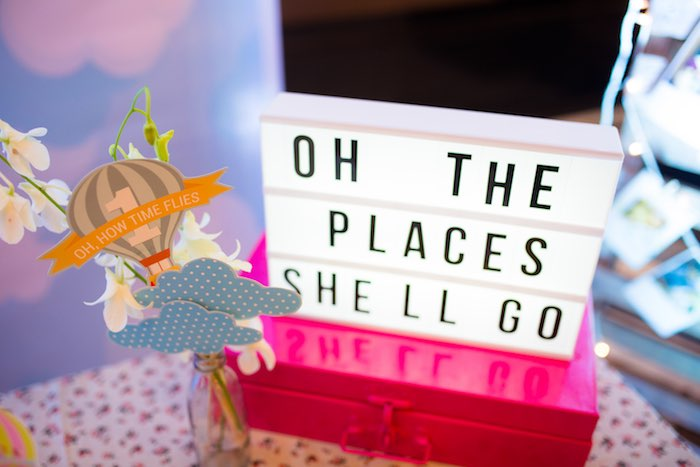 "Lightbox from ""Oh the Places She'll Go"" Birthday Party on Kara's Party Ideas 