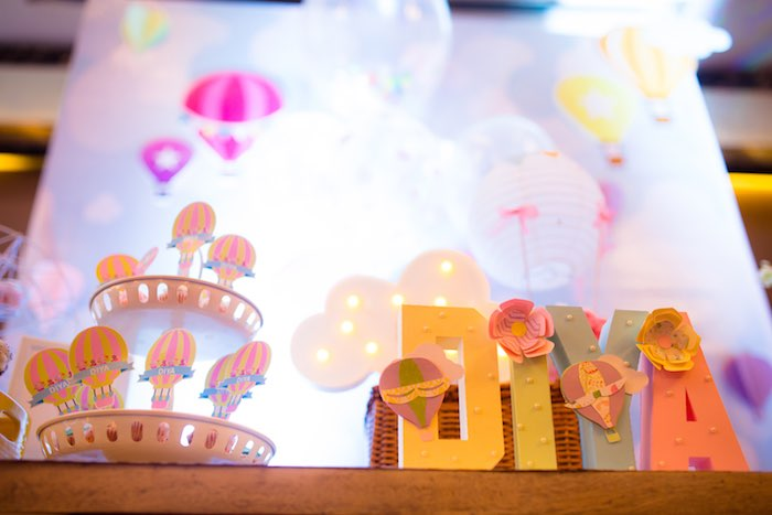 "Block Letters from ""Oh the Places She'll Go"" Birthday Party on Kara's Party Ideas 