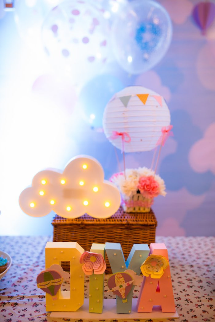 "Decor from ""Oh the Places She'll Go"" Birthday Party on Kara's Party Ideas 