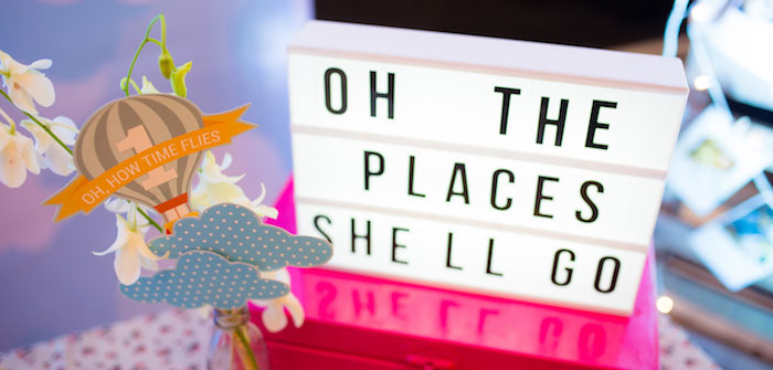 """Oh the Places She'll Go"" Birthday Party on Kara's Party Ideas 